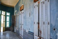 Het blauwe paleis Royalty-vrije Stock Afbeeldingen