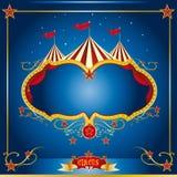 Het blauwe pamflet van het circus Stock Afbeeldingen