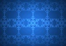 Het blauwe patroon van de Kerstmissneeuwvlok Stock Afbeelding