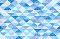 Het blauwe Patroon van de Munt Marmeren Driehoek Stock Afbeeldingen