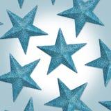 Het blauwe Patroon van de Sterren van Kerstmis Royalty-vrije Stock Afbeelding
