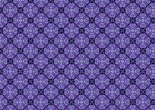 Het blauwe Patroon van het Gebrandschilderd glas Royalty-vrije Stock Afbeelding