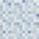 Het blauwe patroon van het tegelsmozaïek Stock Afbeelding