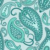 Het blauwe patroon van Paisley vector illustratie