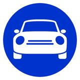 Het blauwe pictogram van de cirkelauto vector illustratie