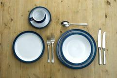 Het blauwe Plaatsen van de Plaat Royalty-vrije Stock Foto