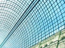 het blauwe plafond van de glasluchthaven Royalty-vrije Stock Afbeeldingen