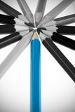 Het blauwe potloodconcept Stock Afbeelding