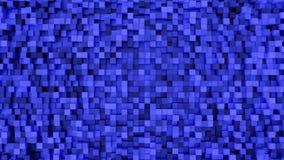 Het blauwe Rechthoek vierkante patroon 3d teruggeven Royalty-vrije Stock Foto