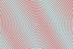 Het blauwe rood stippelde halftone Gecentreerde overmaatse gestippelde gradiënt Halftintachtergrond vector illustratie