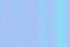 Het blauwe roze stippelde halftone Radiale dunne gestippelde gradiënt Halftintachtergrond royalty-vrije illustratie