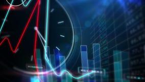 Het blauwe scherm van de effectentechnologie stock video
