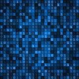 Het blauwe scherm van de het scherm binaire code Stock Fotografie