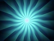 Het blauwe Spiraalvormige Patroon van Lichte Stralen Stock Afbeelding