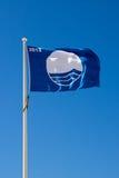 Het blauwe strand van de Vlag stock foto