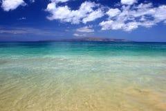 Het blauwe strand van Maui Royalty-vrije Stock Foto's