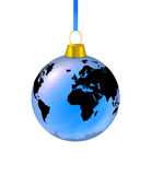 Het blauwe stuk speelgoed van de aardespar is op een witte achtergrond Stock Foto's