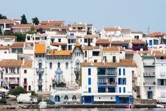 Het blauwe symbool van het Huis van Cadaques Royalty-vrije Stock Foto's