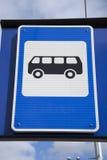 Het blauwe Teken van de Bushalte Royalty-vrije Stock Afbeeldingen
