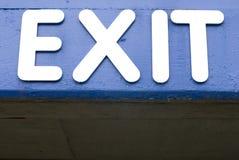 Het blauwe teken van de Uitgang Stock Fotografie