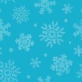 Het blauwe textiel naadloze patroon van kantsneeuwvlokken Stock Foto