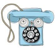 Het blauwe Tin van Speedphone van de Metaaltelefoon Stock Foto