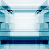 Het blauwe transparante 3d teruggeven Stock Foto's