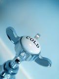 Het blauwe Uitstekende abstracte beeld van de stijl koude kraan Royalty-vrije Stock Foto's