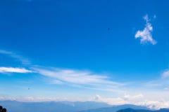 Het blauwe Uitzicht van de Rand Royalty-vrije Stock Afbeeldingen