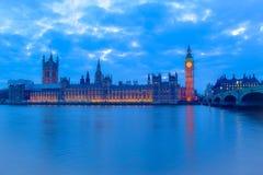 Het Blauwe Uur van Londen Stock Foto