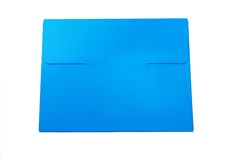 Het blauwe Vakje van het Document Royalty-vrije Stock Fotografie