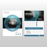 Het blauwe van de het Pamfletbrochure van het cirkel Vector jaarverslag ontwerp van het de Vliegermalplaatje Royalty-vrije Stock Foto