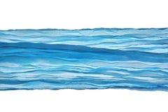 Het blauwe van de Hoeklijnen van de Golfstof Patroon Abstracte Geweven Backgroun Stock Foto's
