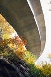 Het blauwe Viaduct van het Brede rijweg met mooi aangelegd landschap van de Rand stock foto's