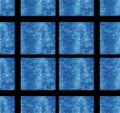 Het blauwe vierkante van de het ontwerpkunst patroon van het achtergrondtextuurbehang van de de achtergrond kubusdecoratie abstra royalty-vrije illustratie