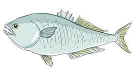 het blauwe vissen schilderen Royalty-vrije Stock Afbeeldingen