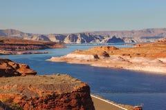 Het blauwe water van Colorado Stock Foto's