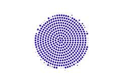 Het blauwe wit stippelde halftone Gecentreerde vlek gestippelde gradiënt Halftintachtergrond vector illustratie