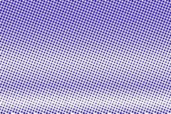 Het blauwe wit stippelde halftone Horizontale ruwe gestippelde gradiënt Halftintachtergrond royalty-vrije illustratie
