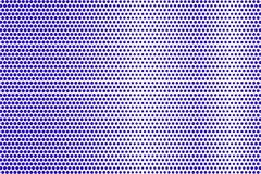 Het blauwe wit stippelde halftone Regelmatige frequente gestippelde gradiënt Halftintachtergrond vector illustratie