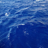 Het blauwe zeewater van de rimpelingstextuur Royalty-vrije Stock Fotografie