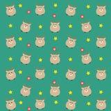 Het blauwgroene kleuren beste patroon met suikergoed en sterren Royalty-vrije Stock Fotografie