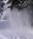 Het blazen van de sneeuw royalty-vrije stock foto