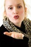 Het blazen van een kus Stock Foto