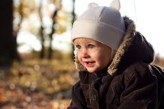 Het blije kind van het portret Stock Foto