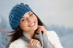 Het blije ogenblik van de winter Royalty-vrije Stock Fotografie