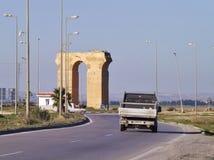 Het blijven van een roman aquaduct, Tunis, Tunesië royalty-vrije stock afbeelding