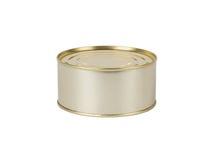 Het blik van het tin op wit royalty-vrije stock afbeelding