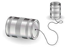 Het bliktelefoon van het tin vector illustratie