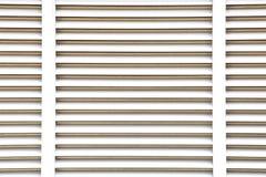 Het blind naadloze achtergrond van het witmetaalvenster stock foto's